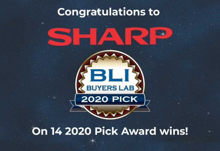Sharp Earns 14 Buyers Lab Winter 2020 Pick Awards